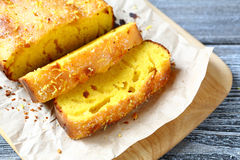 Lemon tea cake Royalty Free Stock Images