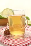 Lemon tea with candy Royalty Free Stock Photo