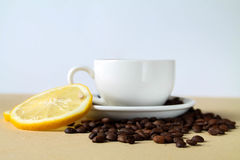 Lemon tea or coffee ? Royalty Free Stock Photos