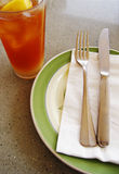 Lemon tea cold, casual table setting Royalty Free Stock Photography