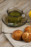 Lemon tea and cookies Royalty Free Stock Photo