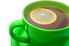 Lemon tea in cup. Royalty Free Stock Photos