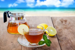 Lemon tea in a cup Stock Photography