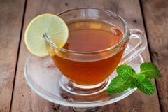Lemon tea in a cup Royalty Free Stock Image