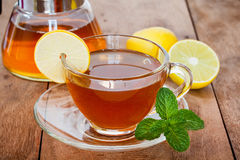 Lemon tea in a cup Royalty Free Stock Images