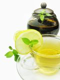 Lemon tea with fresh mint Stock Photography