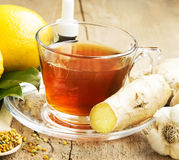 Lemon Tea with Ginger.Alternative Medicine Stock Photography