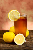 Lemon tea glass Royalty Free Stock Photos