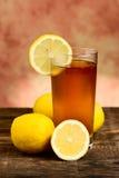 Lemon tea glass Royalty Free Stock Photos