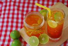 Lemon tea in a glass Royalty Free Stock Photography