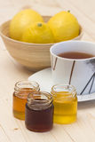 Lemon tea and honey Royalty Free Stock Photos