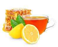 Lemon tea with honey Royalty Free Stock Images