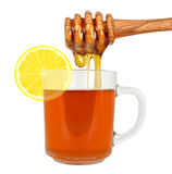 Lemon tea with honey Stock Images