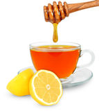 Lemon tea with honey Royalty Free Stock Photo