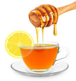 Lemon tea with honey Royalty Free Stock Images