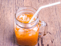 Lemon tea jar Royalty Free Stock Photo
