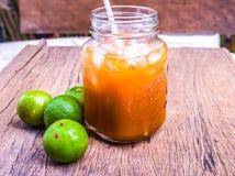 Lemon tea jar Royalty Free Stock Images