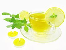 Lemon tea with mint Royalty Free Stock Photos