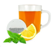 Lemon tea and mint Royalty Free Stock Photo