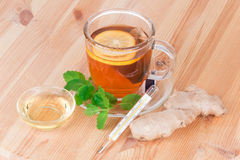 Lemon Tea with mint Royalty Free Stock Images
