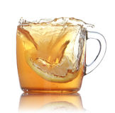 Lemon tea splash Royalty Free Stock Image
