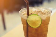Lemon tea on table Stock Images
