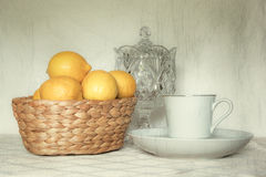 Lemon Tea Time Stock Image