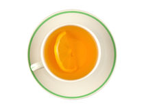 Lemon tea, top view Stock Photo