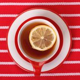 Lemon tea top view Royalty Free Stock Photos