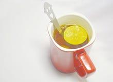 Lemon Tea. In white background stock photography