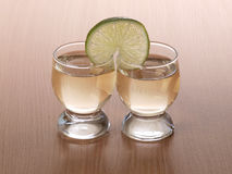 Lemon tequila cup Royalty Free Stock Images