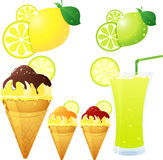 lemon theme Stock Images