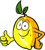 Lemon with thumb up Stock Images