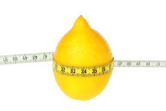 Lemon tied meter. Diet. Stock Images