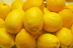 Lemon Time. Bowl of large, yellow lemons ready for use Royalty Free Stock Photography