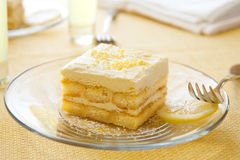 Lemon Tiramisu Royalty Free Stock Image