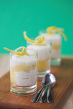 Lemon Tiramisu with lemon twists Stock Photography