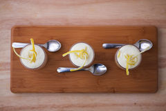 Lemon Tiramisu with lemon twists Royalty Free Stock Photography