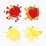 Lemon, tomato, apple Stock Photo