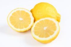 Lemon. Two lemons with white background Stock Image