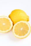 Lemon. Two lemons with white background Stock Photo
