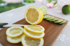 Lemon. Very tasty lemon and lime Royalty Free Stock Images