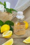 Lemon vinegar Royalty Free Stock Image