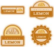 Lemon Vintage Food Labels Stock Photos