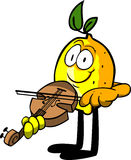 Lemon with violin Stock Photography