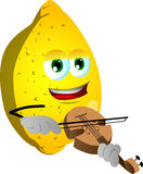 Lemon with violin Stock Images