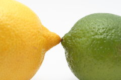 Lemon vs lime Stock Photos