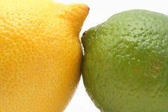 Lemon vs lime royalty free stock photos