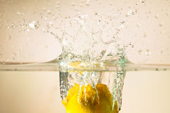 Lemon and water Stock Photography