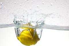lemon water Royaltyfri Foto